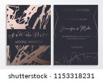 save the date wedding... | Shutterstock .eps vector #1153318231