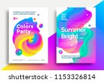 summer bright and colors party...   Shutterstock .eps vector #1153326814