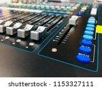 mixer in control room | Shutterstock . vector #1153327111