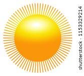 sun icon with beams as vector... | Shutterstock .eps vector #1153329214