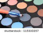 bright eye shadows close up | Shutterstock . vector #115333357