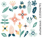 cutout flowers and floral... | Shutterstock .eps vector #1153346791