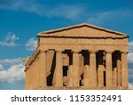 ancient temple at the valle dei ... | Shutterstock . vector #1153352491