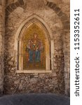 Mosaic Of Holy Mary And Jesus...