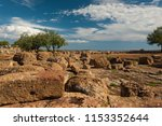archeological site at the valle ... | Shutterstock . vector #1153352644