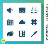 modern  simple vector icon set... | Shutterstock .eps vector #1153353277