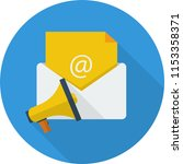 email marketing icon design | Shutterstock .eps vector #1153358371