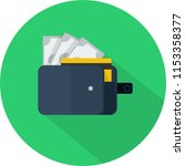 wallet icon design | Shutterstock .eps vector #1153358377