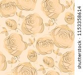 ivory and beige luxury floral... | Shutterstock .eps vector #1153358614