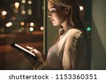 close up of young businesswoman ... | Shutterstock . vector #1153360351