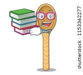student with book wooden spoon... | Shutterstock .eps vector #1153362277