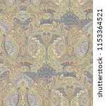 seamless paisley traditional... | Shutterstock . vector #1153364521