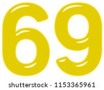 numeral 69  sixty nine ... | Shutterstock . vector #1153365961