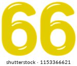 numeral 66  sixty six  isolated ... | Shutterstock . vector #1153366621