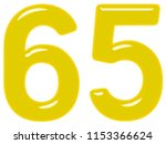 numeral 65  sixty five ... | Shutterstock . vector #1153366624