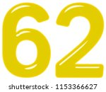 numeral 62  sixty two  isolated ... | Shutterstock . vector #1153366627