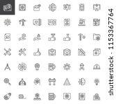 engineering elements outline... | Shutterstock .eps vector #1153367764