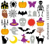 halloween icons | Shutterstock .eps vector #115337731