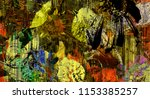 art graphic and watercolor... | Shutterstock . vector #1153385257