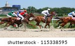 Stock photo horse race for the prize caucasus russia 115338595