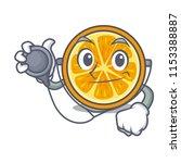 doctor orange character cartoon ... | Shutterstock .eps vector #1153388887