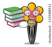 student with book hair clip... | Shutterstock .eps vector #1153388911