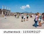 pompei  italy   august 1  2018  ... | Shutterstock . vector #1153392127