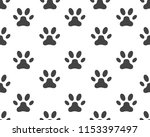 paw icon vector illustration... | Shutterstock .eps vector #1153397497