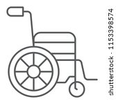 wheelchair thin line icon ... | Shutterstock .eps vector #1153398574