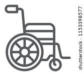 wheelchair line icon  medical... | Shutterstock .eps vector #1153398577