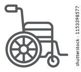 wheelchair line icon  medical...   Shutterstock .eps vector #1153398577