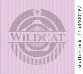 wildcat pink emblem. vintage. | Shutterstock .eps vector #1153400197