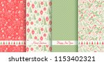 set of christmas seamless... | Shutterstock .eps vector #1153402321