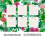 colorful template of timetable... | Shutterstock .eps vector #1153406101
