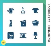 modern  simple vector icon set... | Shutterstock .eps vector #1153408024