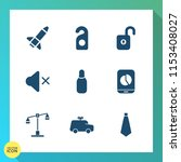 modern  simple vector icon set... | Shutterstock .eps vector #1153408027
