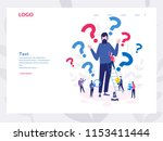 a curious man. emotional ... | Shutterstock .eps vector #1153411444