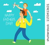happy father's day illustration.... | Shutterstock .eps vector #1153413631