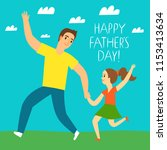happy father's day illustration.... | Shutterstock .eps vector #1153413634
