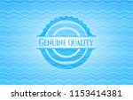 genuine quality water... | Shutterstock .eps vector #1153414381