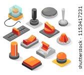 isometric buttons vector set.... | Shutterstock .eps vector #1153417231