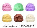 six different flavor and color... | Shutterstock . vector #1153420117