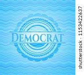 democrat sky blue water emblem... | Shutterstock .eps vector #1153422637