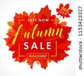 bright banner for autumn sale... | Shutterstock .eps vector #1153423327