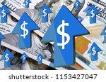 american dollar is rapidly...   Shutterstock . vector #1153427047