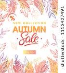 autumn special offer banner... | Shutterstock .eps vector #1153427491