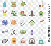set of 25 transparent icons... | Shutterstock .eps vector #1153437337