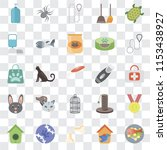 set of 25 transparent icons... | Shutterstock .eps vector #1153438927