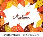 colorful dogwood leaves around... | Shutterstock .eps vector #1153439671