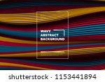 distortion of lines. modern... | Shutterstock .eps vector #1153441894
